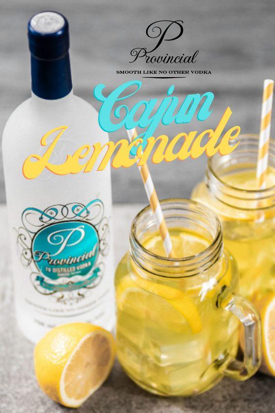 Glass of vodka with lemons