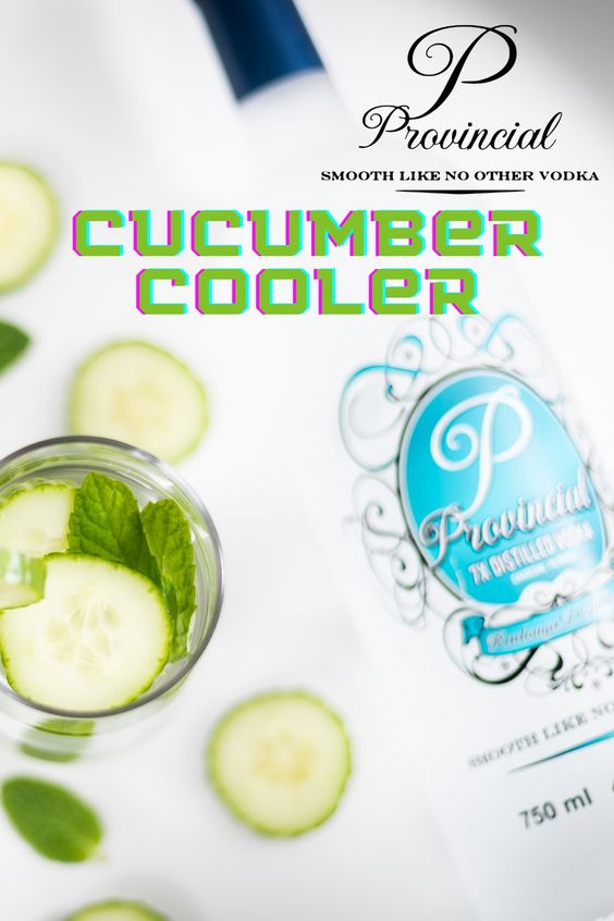 Vodka with Cucumbers served