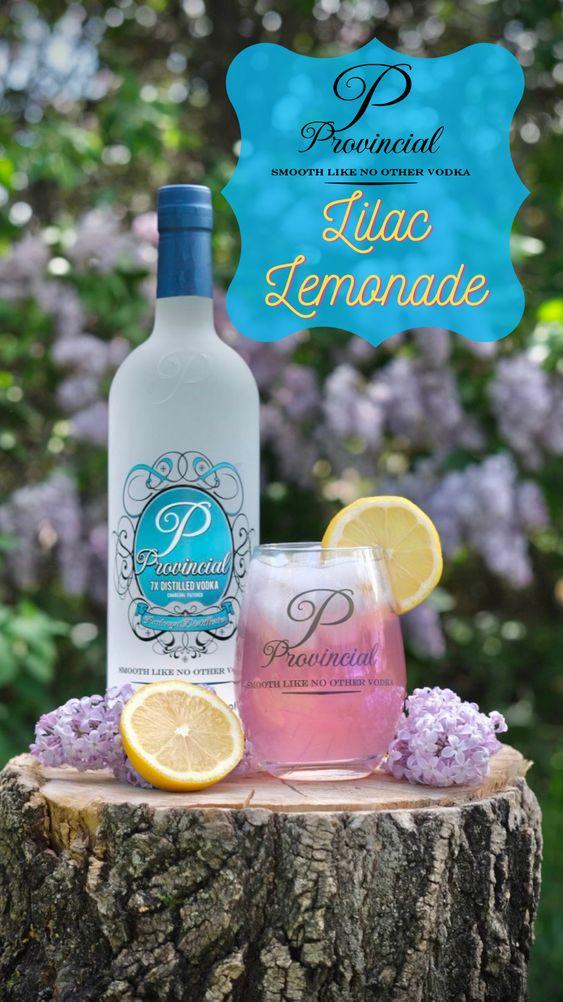 Beverage served with lemon
