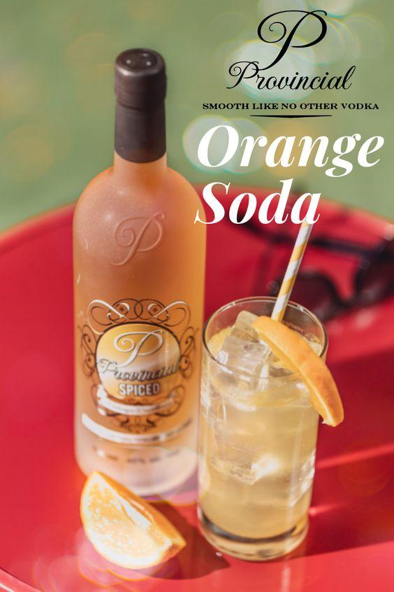 Vodka Beverga served with orrange