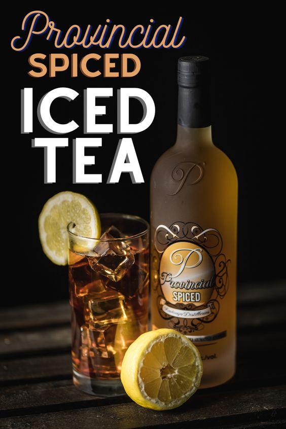 Spiced iced tea with Vodka and lime